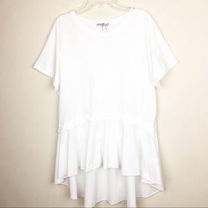 ZARA Basic Collection Small White Blouse